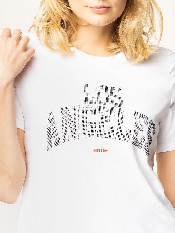 Guess Guess T-shirt Glam La Tee W01I89 R5JK0 Bianco Regular Fit