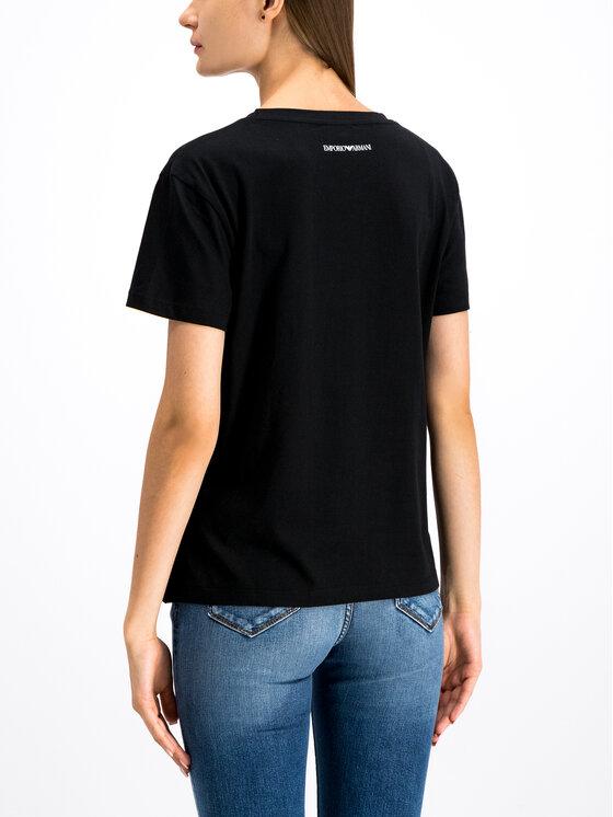 Emporio Armani Emporio Armani T-Shirt 6G2T7F 2J06Z 0999 Czarny Regular Fit