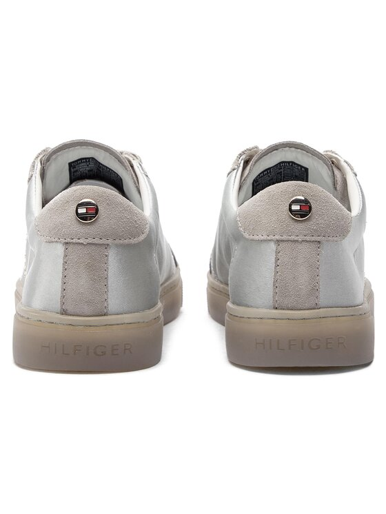 Tommy Hilfiger Tommy Hilfiger Sneakersy Sparkle Satin Essential Sneaker FW0FW03694 Szary