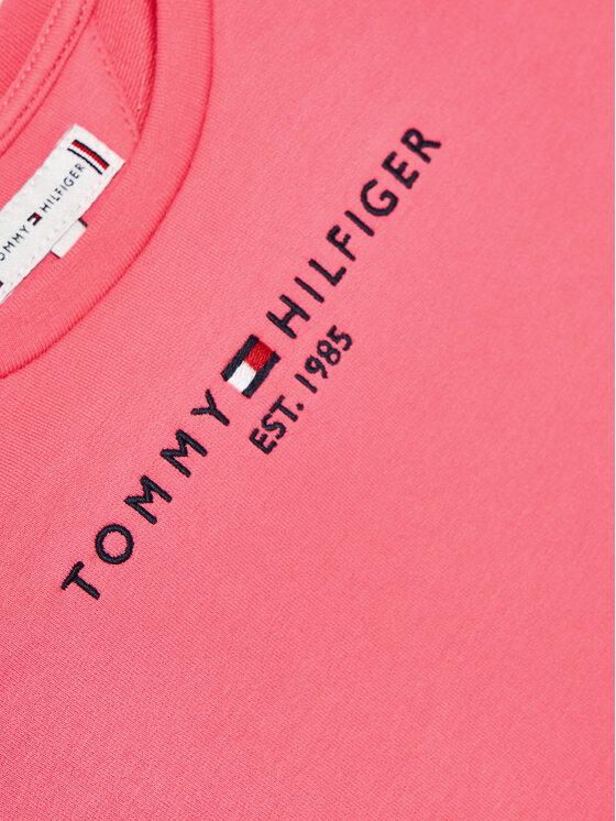 Tommy Hilfiger Tommy Hilfiger Sukienka codzienna Essential Skater KG0KG05789 M Różowy Regular Fit