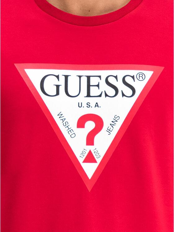 Guess Guess Суитшърт M94Q24 K7ON0 Червен Slim Fit