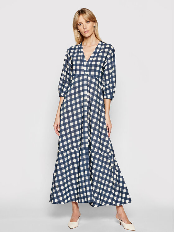 Victoria Victoria Beckham Kasdieninė suknelė Printed Faille 2221WDR002595A Tamsiai mėlyna Relaxed Fit