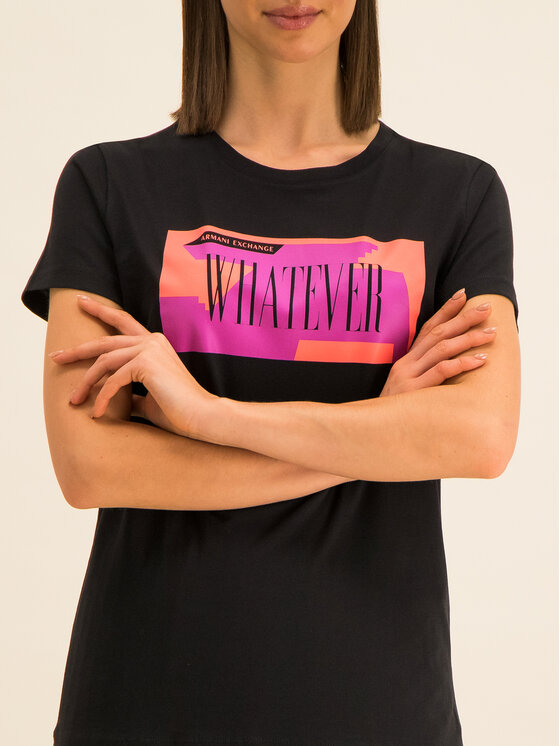Armani Exchange Armani Exchange T-Shirt 3HYTEM YJ16Z 1200 Schwarz Regular Fit