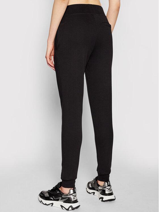 KARL LAGERFELD KARL LAGERFELD Spodnie dresowe Address Logo 210W1070 Czarny Relaxed Fit