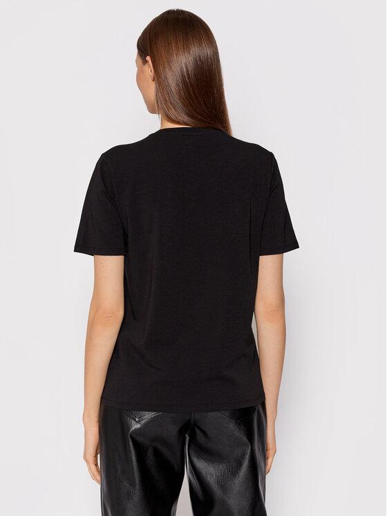 Liu Jo Liu Jo T-shirt CF1289 J5003 Crna Regular Fit