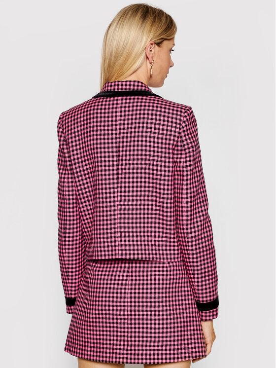 Versace Jeans Couture Versace Jeans Couture Сако Jacquard Dis Vichy Bicolore 71HAQ703 Розов Regular Fit