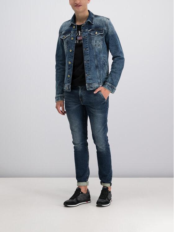Guess Guess Kurtka jeansowa William M93N14 D3P70 Granatowy Regular Fit