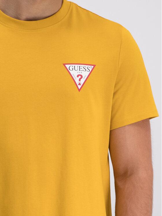 Guess Guess T-Shirt M93I08 K8FQ0 Żółty Regular Fit