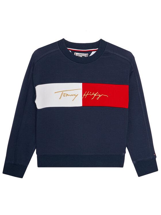 TOMMY HILFIGER TOMMY HILFIGER Bluza Icons Logo KG0KG05497 D Granatowy Regular Fit