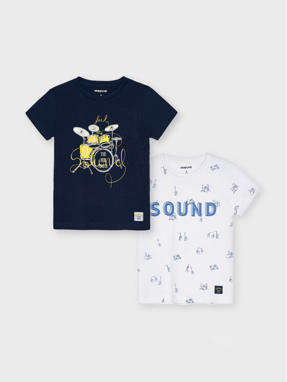 Mayoral 2 marškinėlių komplektas 3050 Tamsiai mėlyna Regular Fit