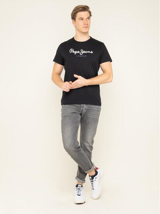 Pepe Jeans Pepe Jeans Marškinėliai Eggo PM500465 Juoda Regular Fit