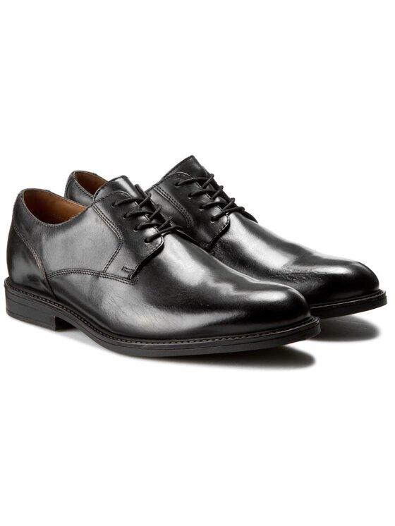 Clarks Clarks Обувки Beckfield Walk 261192637 Черен