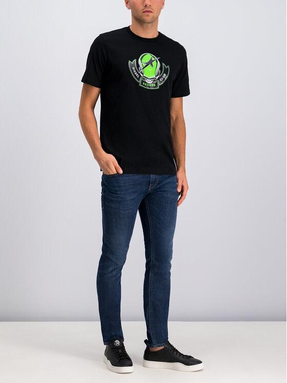 Diesel Diesel T-Shirt T-Just 00SXM1 0091A Μαύρο Regular Fit