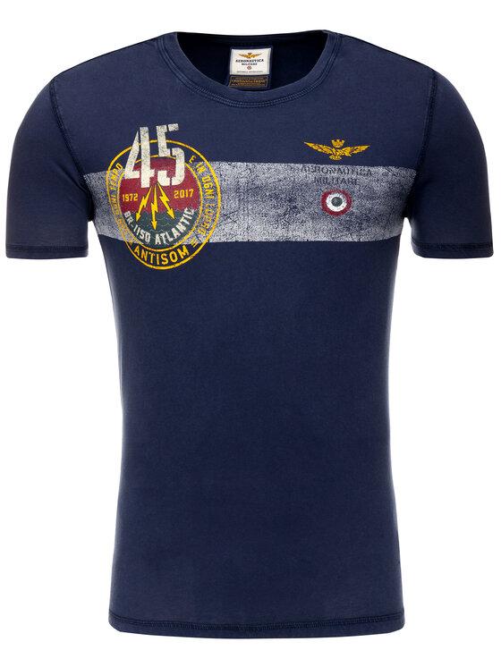 Aeronautica Militare Aeronautica Militare T-Shirt 191TS1628J404 Granatowy Regular Fit