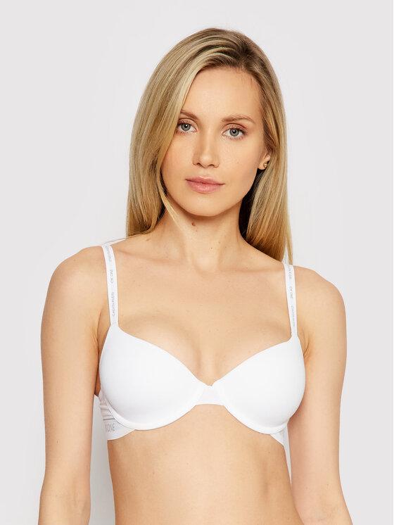 Levně Calvin Klein Underwear Podprsenka s kosticemi Lightly Lined Demi 000QF5732E Bílá