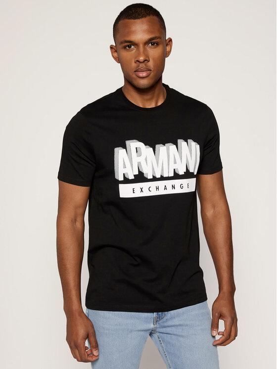 Armani Exchange Armani Exchange T-Shirt 6GZTEA ZJN7Z 1200 Czarny Regular Fit