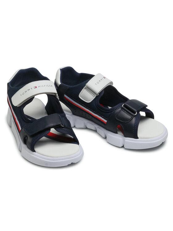 Tommy Hilfiger Tommy Hilfiger Sandały Velcro Sandal T1B2-31107-1176 S Granatowy