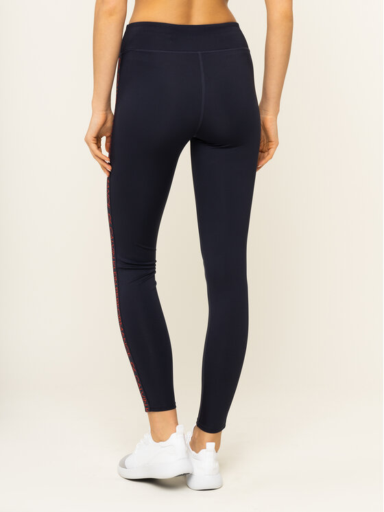 Calvin Klein Performance Calvin Klein Performance Leggings Logo Gym 00GWH9L612 Bleu marine Slim Fit
