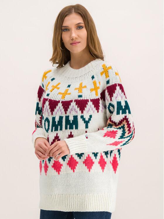 Tommy Jeans Tommy Jeans Megztinis Tjw Fairisle DW0DW07188 Spalvota Regular Fit