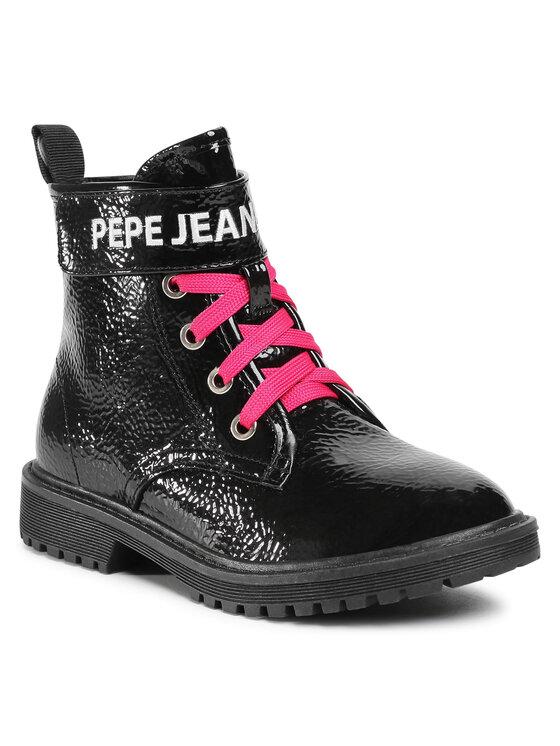 Pepe Jeans Trapery Hatton Velcro PGS50161 Czarny