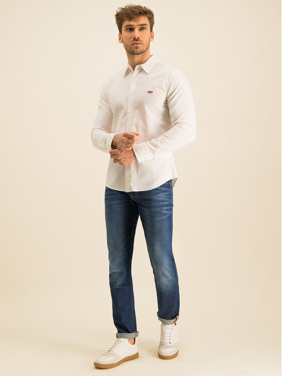 Levi's® Levi's® Chemise Long Sleeved Shirt 86625-0002 Blanc Slim Fit