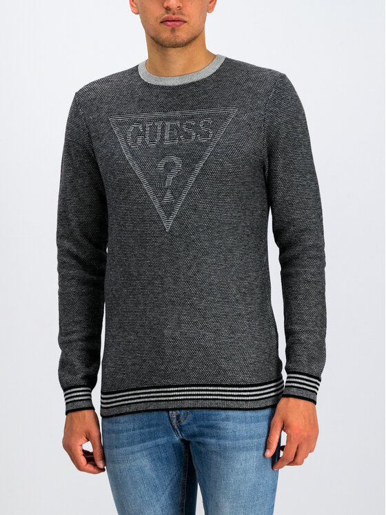 Guess Guess Sweter M94R50 Z25R1 Szary Regular Fit