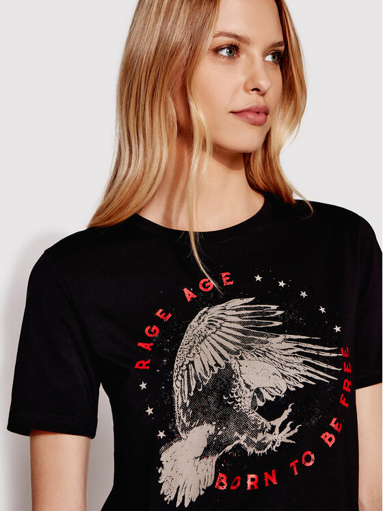 Rage Age Rage Age T-Shirt Freedom 1 Czarny Regular Fit