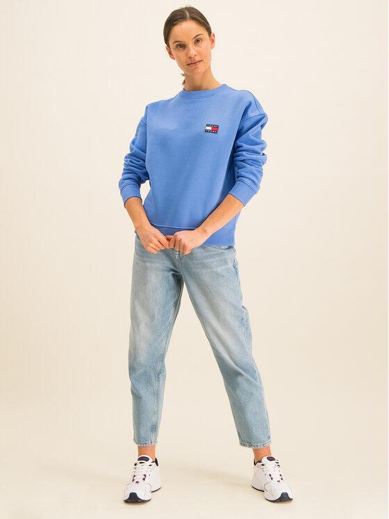 Tommy Jeans Tommy Jeans Felpa Badge Crew DW0DW07786 Blu Regular Fit