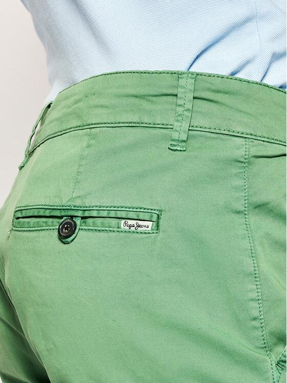 Pepe Jeans Pepe Jeans Szorty materiałowe Mc Queen PM800227C75 Zielony Regular Fit