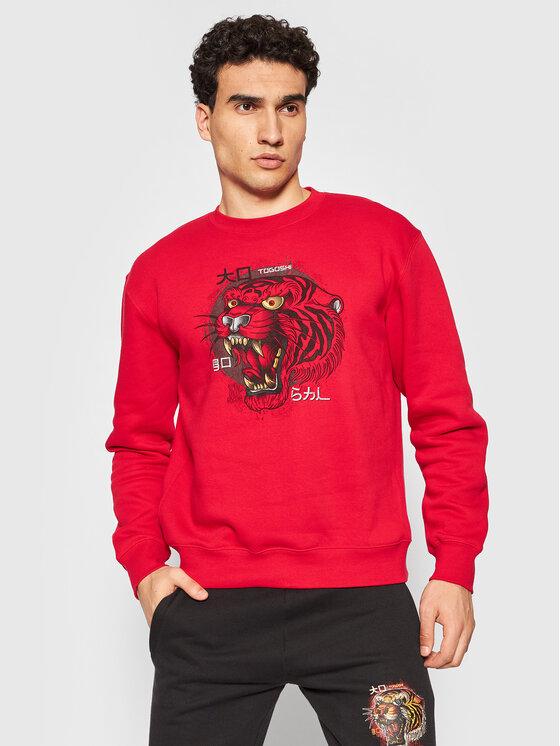 Togoshi Džemperis Wildcat M 2 Raudona Regular Fit