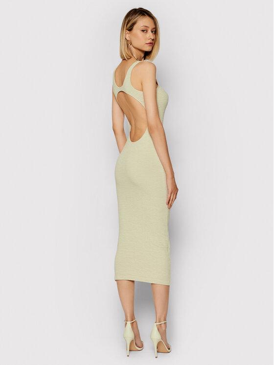 Remain Kasdieninė suknelė Elvirah RM482 Smėlio Slim Fit