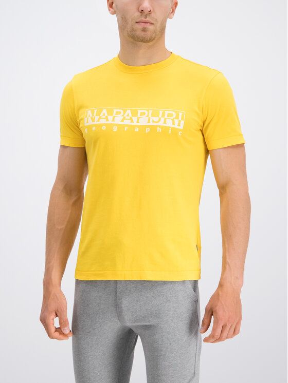 Napapijri Napapijri T-Shirt Sevora N0YIJ9 Κίτρινο Regular Fit