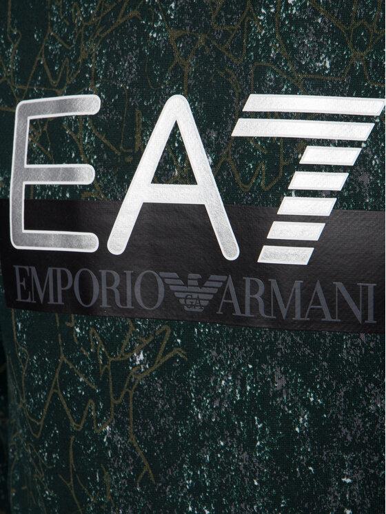 EA7 Emporio Armani EA7 Emporio Armani Pulóver 6GPM13 PJF6Z 2816 Zöld Regular Fit