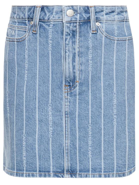 Calvin Klein Jeans Calvin Klein Jeans Džínsová sukňa High Rise Denim J20J213382 Modrá Regular Fit