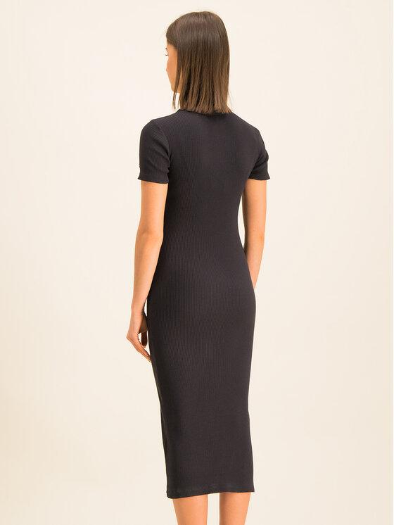 Champion Champion Φόρεμα υφασμάτινο Ribbed Cotton-Knit 112542 Μαύρο Slim Fit