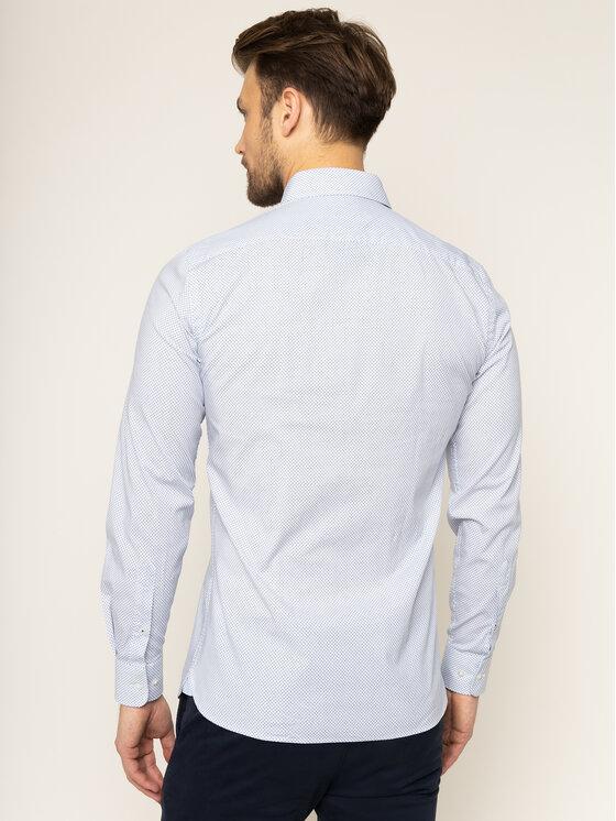 Trussardi Jeans Trussardi Jeans Camicia Print 52C00138 Bianco Regular Fit
