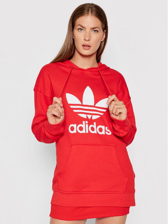 adidas Džemperis adicolor Trefoil H33588 Raudona Regular Fit
