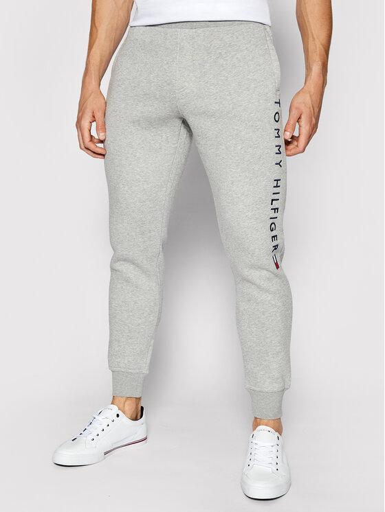 Tommy Hilfiger Tommy Hilfiger Spodnie dresowe Stacked Logo MW0MW18485 Szary Regular Fit