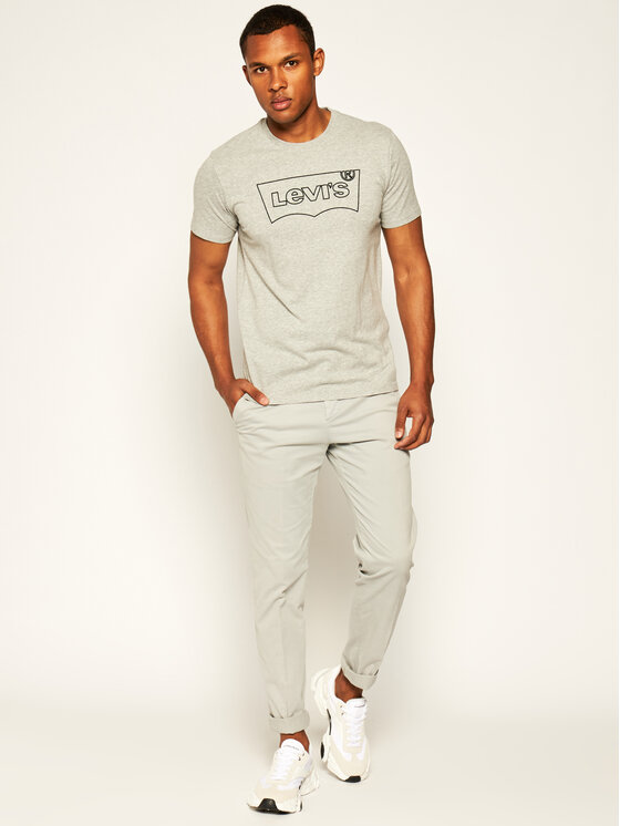 Levi's® Levi's T-Shirt Housemark Graphic Tee 22489-0241 Γκρι Regular Fit