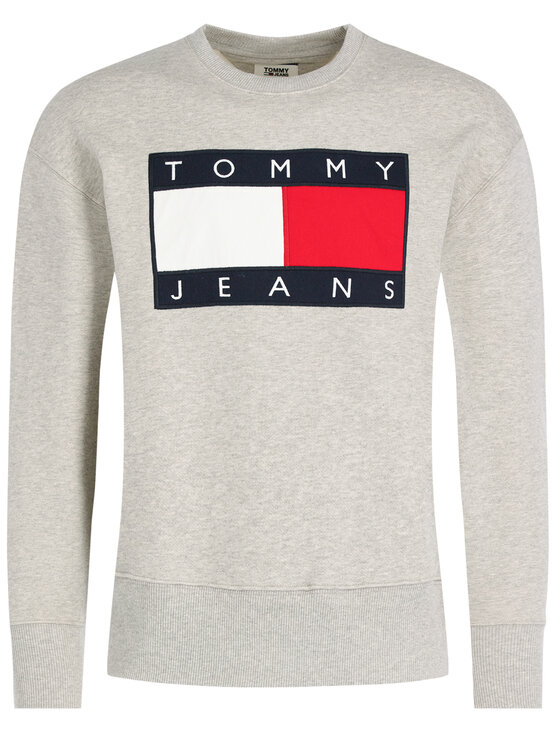 Tommy Jeans Tommy Jeans Mikina TJM Tommy Flag Crew DM0DM07201 Šedá Regular Fit
