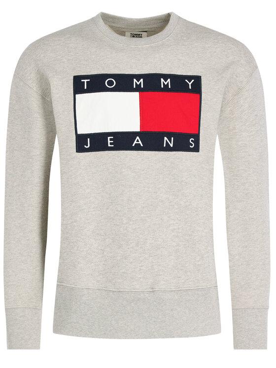 Tommy Jeans Tommy Jeans Суитшърт TJM Tommy Flag Crew DM0DM07201 Сив Regular Fit