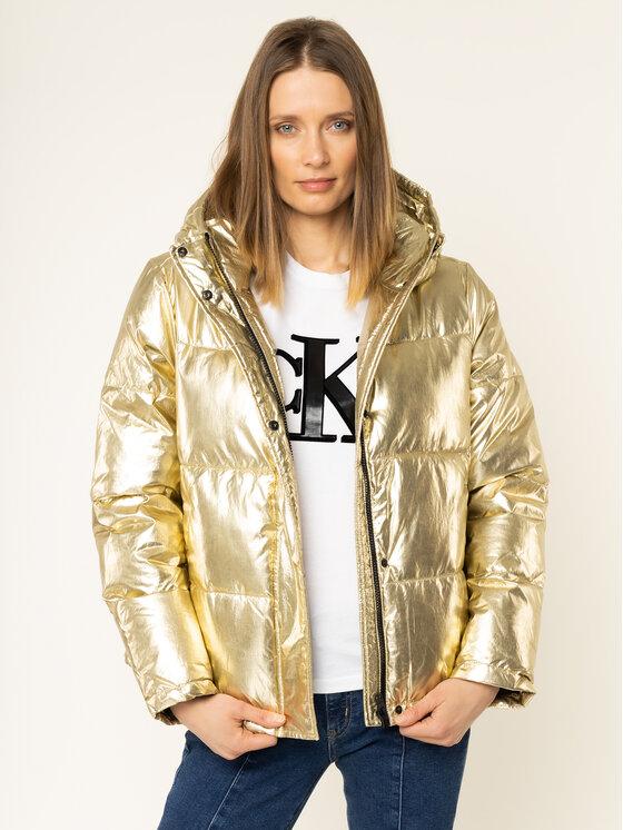Calvin Klein Jeans Calvin Klein Jeans Vatovaná bunda Metallic Puffer J20J212094 Zlatá Regular Fit