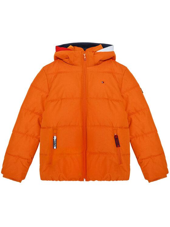 Tommy Hilfiger Tommy Hilfiger Kurtka puchowa Essential Padded KB0KB05982 D Pomarańczowy Regular Fit