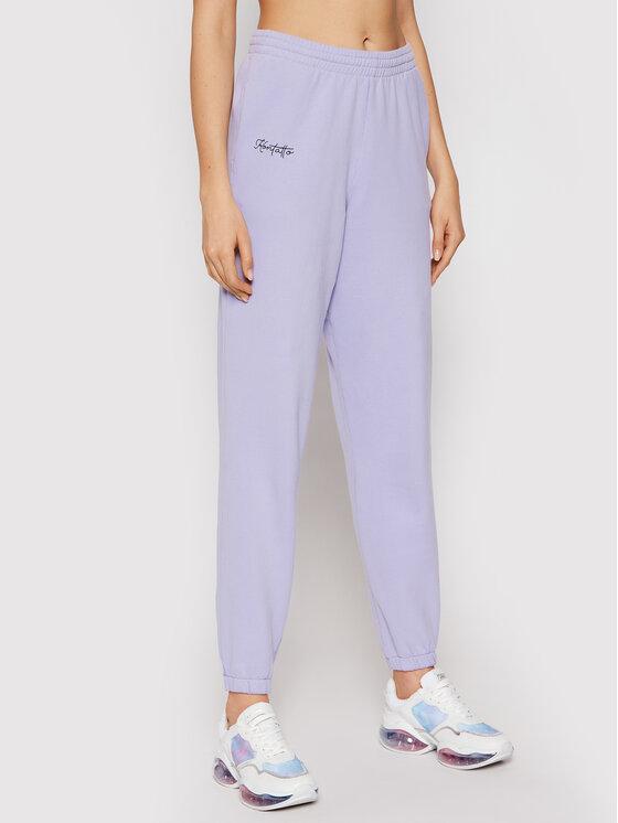 Kontatto Sportinės kelnės SDK201 Violetinė Regular Fit