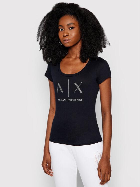 Armani Exchange Armani Exchange T-Shirt 8NYT83 YJ16Z 1510 Dunkelblau Regular Fit
