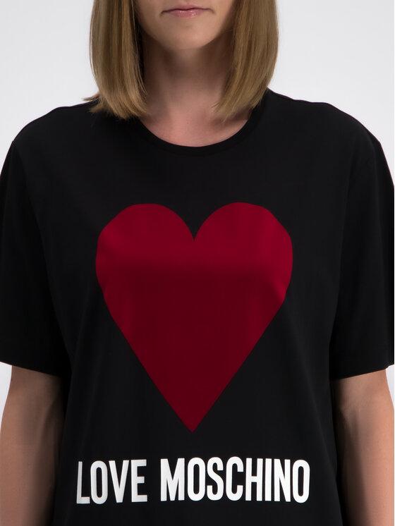 LOVE MOSCHINO LOVE MOSCHINO T-Shirt W4F8721M 3517 Černá Oversize