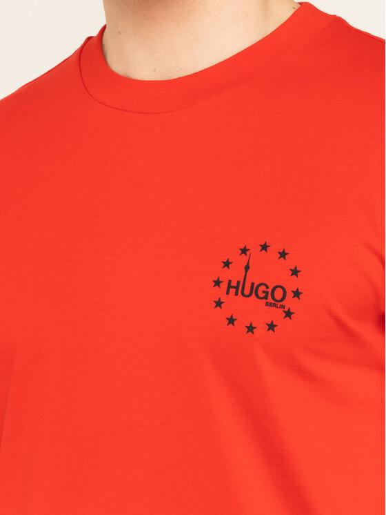 Hugo Hugo Тишърт Dauber 50421646 Червен Regular Fit