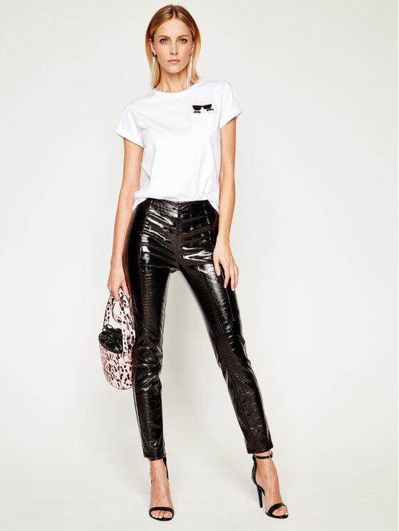 KARL LAGERFELD KARL LAGERFELD T-Shirt Ikonik Karl Pocket 201W1712 Λευκό Regular Fit