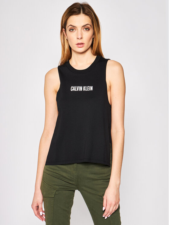 Calvin Klein Swimwear Calvin Klein Swimwear Top Beach KW0KW01009 Negru Regular Fit