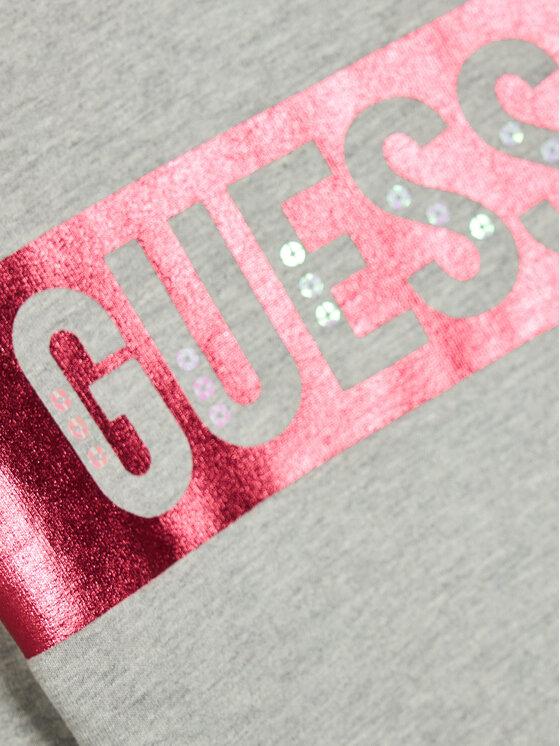 Guess Guess Bluza Logo K0BQ01 K82T0 Szary Regular Fit